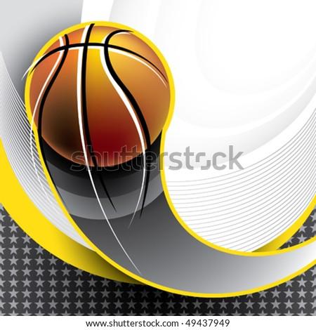 Designed basketball banner. Vector illustration. - stock vector