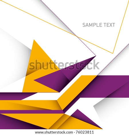 Designed business layout with abstraction. Vector illustration. - stock vector