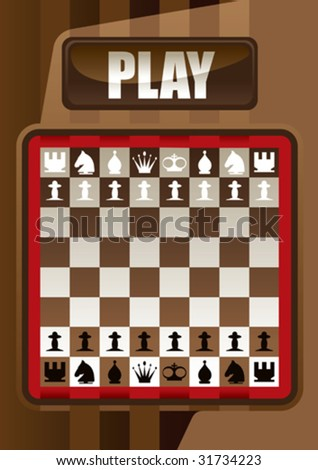 Designed chess poster. Vector illustration. - stock vector