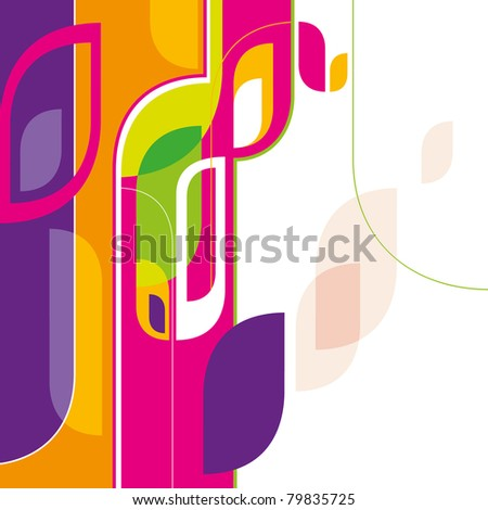 Designed creative abstraction in color. Vector illustration. - stock vector