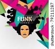 Designed funk background in color. Vector illustration. - stock vector
