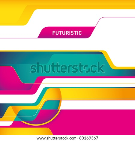 Designed futuristic abstract layout in color. Vector illustration.