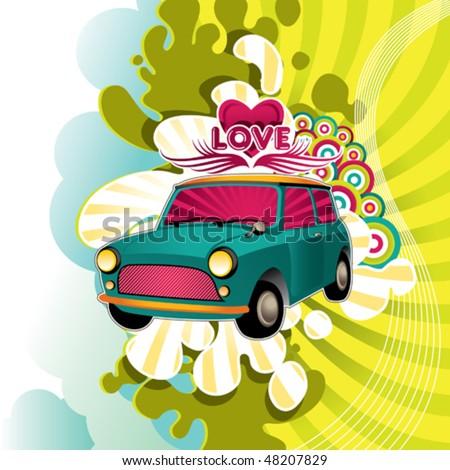 Designed hippie artistic banner. Vector illustration. - stock vector