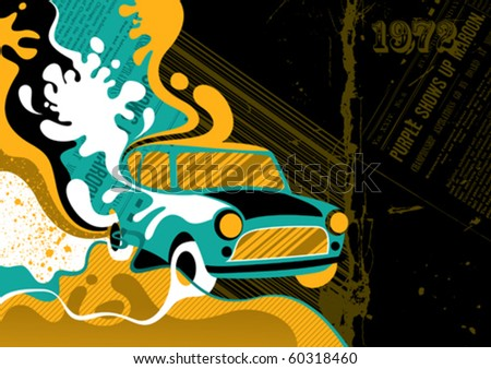 Designed modern banner with stylized liquid shapes. Vector illustration. - stock vector