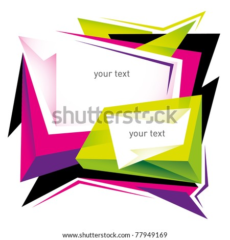 Designed modern layout with angular shapes. Vector illustration. - stock vector