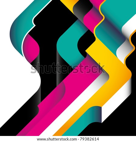 Designed modernistic abstraction in color. Vector illustration. - stock vector