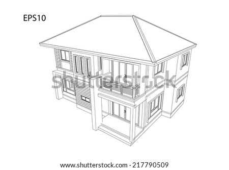 Designed to create a modern home - stock vector