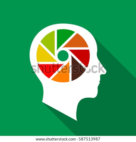 designer brain icon flat illustration designer stock vector royalty