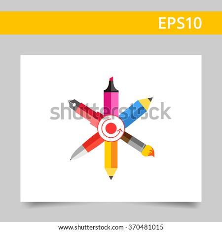 Designer tools - stock vector