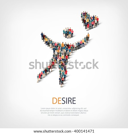 desire people  symbol - stock vector