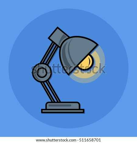 desk lamp flat icon