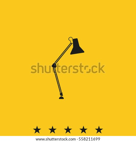 icon lighting. desk lamp icon lighting illustration