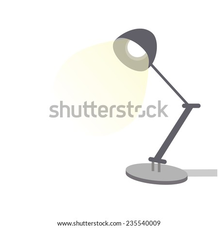 desk lamp isolated on white