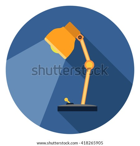 desk light lamp icon - stock vector