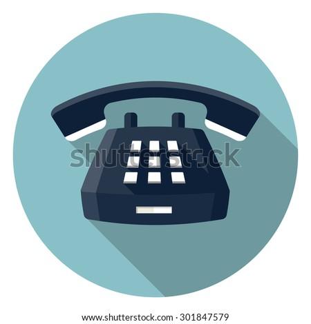Desk Phone icon - stock vector