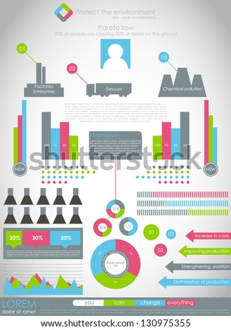 Detail modern infographic vector illustration , industrial infographics and Information Graphics. Paper style - stock vector