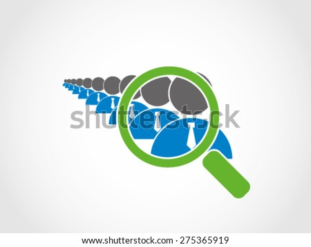 Detail Recruitment Employee Selection  - stock vector