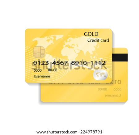 Detail Textured Credit Card on white - stock vector