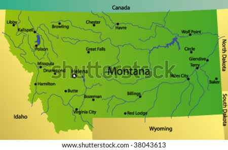 Montana Usa Stock Images RoyaltyFree Images Vectors - Montana on map of usa
