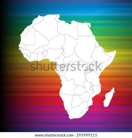 Detailed African Map  - stock vector