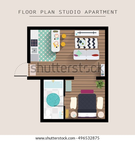 Floor plan furniture elegant arrange your furniture with for Studio apartment solutions