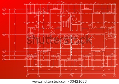 Detailed architectural background. - stock vector