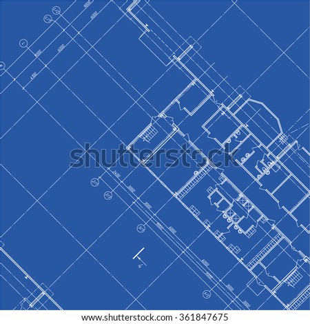 Detailed architectural plan. Vector Illustration.
