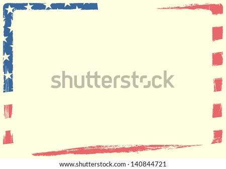 detailed background illustration of an american flag with grunge texture and white space, eps 10 vector - stock vector