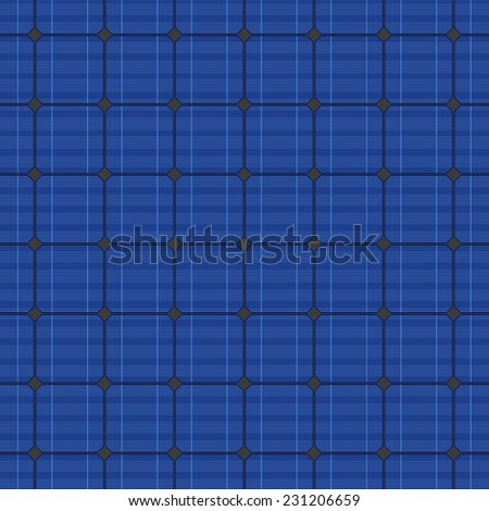 Detailed blue electric solar panel seamless pattern. Vector illustration - stock vector
