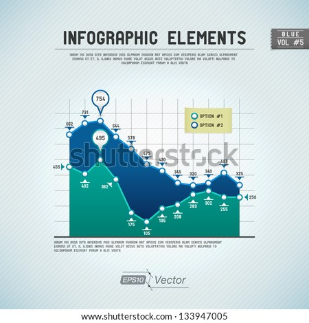 Detailed colorful infographic elements - stock vector