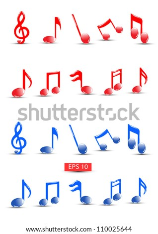 Detailed Colorful musical notes vector.High quality detailed vector but you can easily change the color at any time