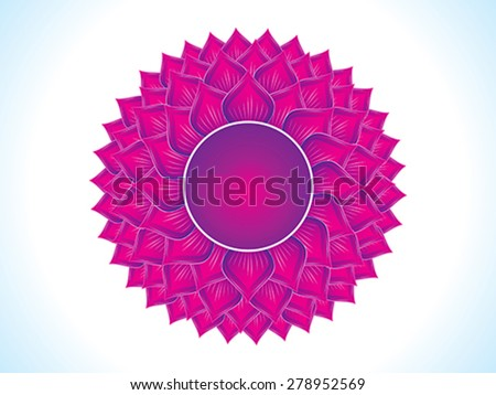 detailed crown chakra vector illustration - stock vector