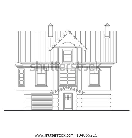 Line Drawing House Stock Photos, oyalty-Free Images & Vectors ... - ^