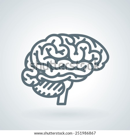 Detailed human brain line icon stock vector 251986867 shutterstock detailed human brain line icon ccuart Choice Image