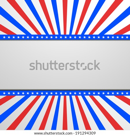 detailed illustration of a banner on a patriotic striped background, eps 10 vector - stock vector