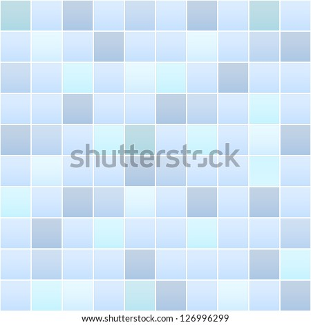 detailed illustration of a bathroom tile pattern, eps 10 - stock vector