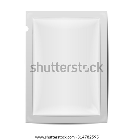 detailed illustration of a blank foil packaging template, eps10 vector - stock vector