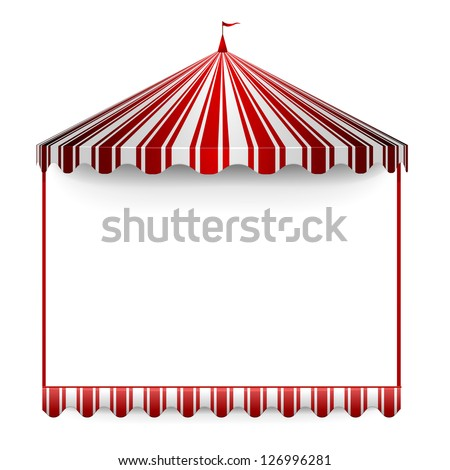 detailed illustration of a carnivals frame with a circus tent on top, eps 10 - stock vector