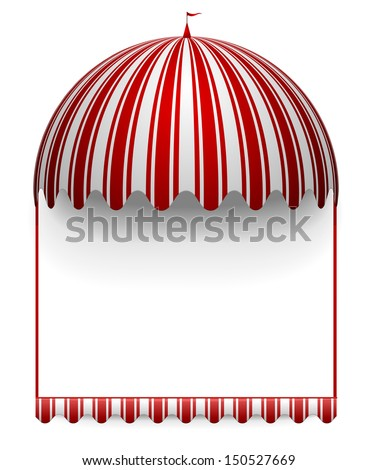 detailed illustration of a carnivals frame with a round circus awning on top - stock vector