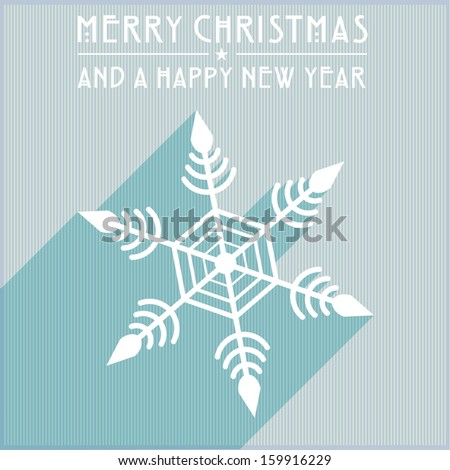 detailed illustration of a christmas snowflake, eps 10 vector - stock vector