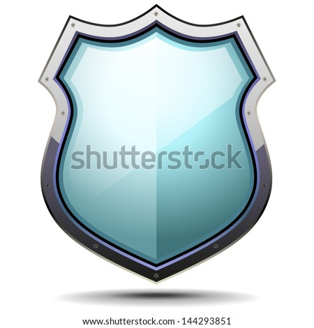 detailed illustration of a coat of arms, symbol for security and protection, eps 10 vector - stock vector