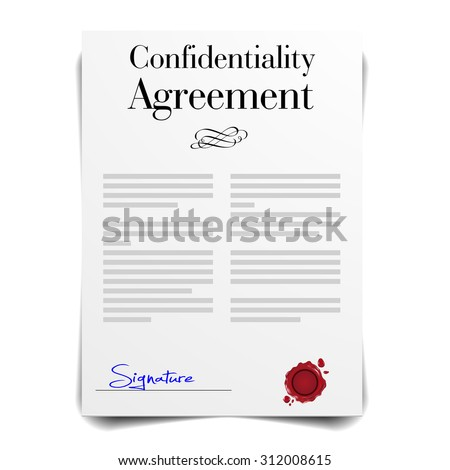 detailed illustration of a Confidentiality Agreement Letter, eps10 vector - stock vector