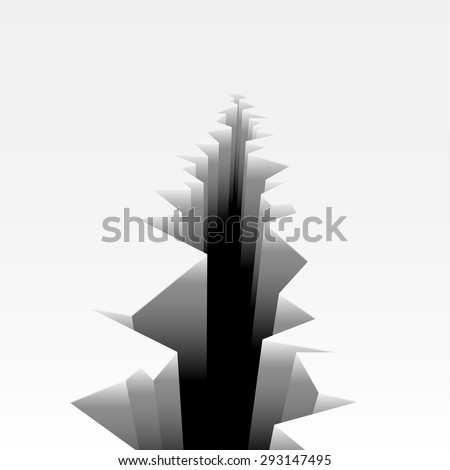 detailed illustration of a cracked ground, eps10 vector - stock vector