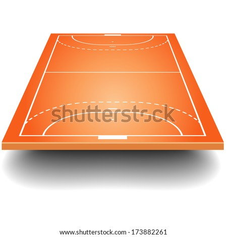 detailed illustration of a handball field with perspective, eps10 vector