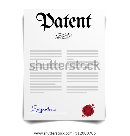 detailed illustration of a Patent Letter, eps10 vector - stock vector