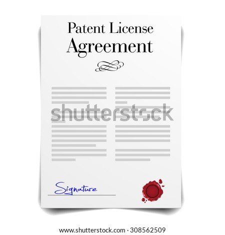 detailed illustration of a Patent License Agreement Letter, eps10 vector - stock vector