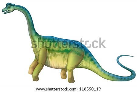 Detailed Illustration of a sauropod - stock vector