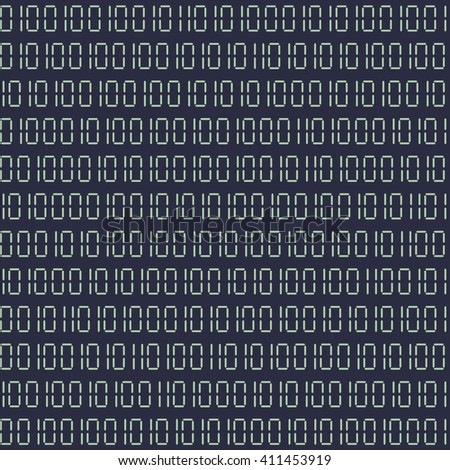 detailed illustration of a seamless binary code background, eps10 vector - stock vector