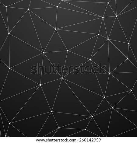 detailed illustration of an abstract triangle background, eps10 vector - stock vector