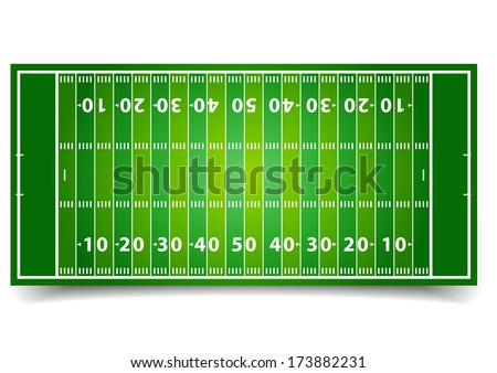 detailed illustration of an American Football field, eps10 vector - stock vector